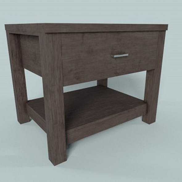 Low Polygon Game Ready Table Drawer