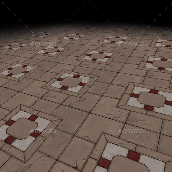 Medieval floor Tile 2 (hand painted) - 3DOcean Item for Sale