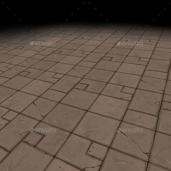 Medieval floor Tile 2 version 2 (hand painted) - 3DOcean Item for Sale