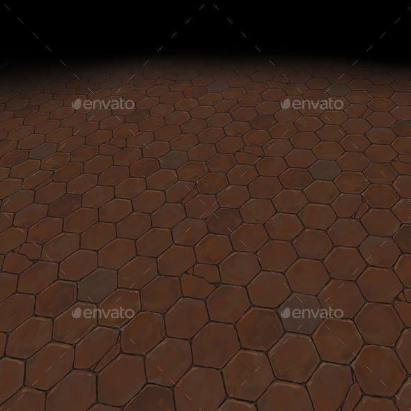 Medieval floor Tile 5 (hand painted) - 3DOcean Item for Sale