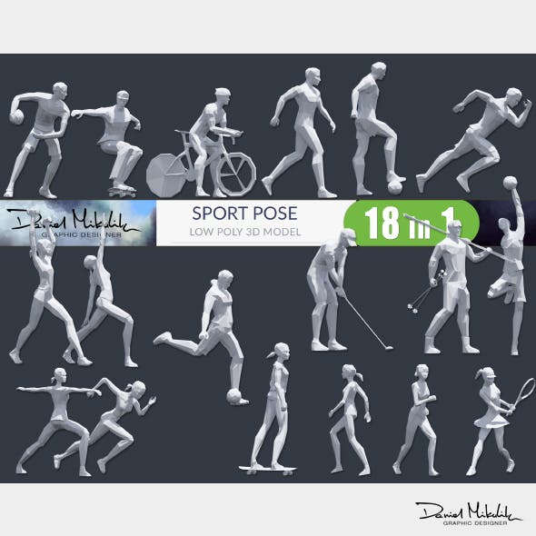 Low Poly Sport Pose PACK - 3DOcean Item for Sale