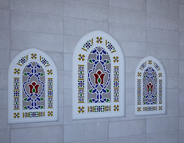 mosque and church window - 3DOcean Item for Sale