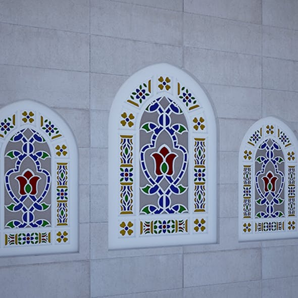 mosque and church window
