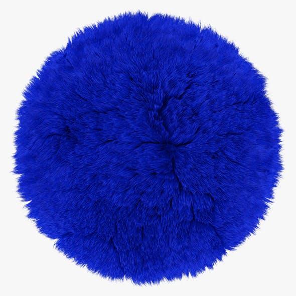 Blue round rug - 3DOcean Item for Sale