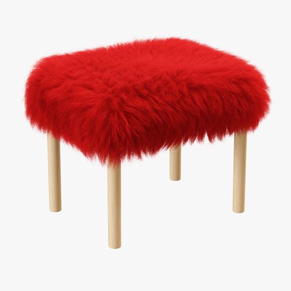Carys Sheepskin Footstool