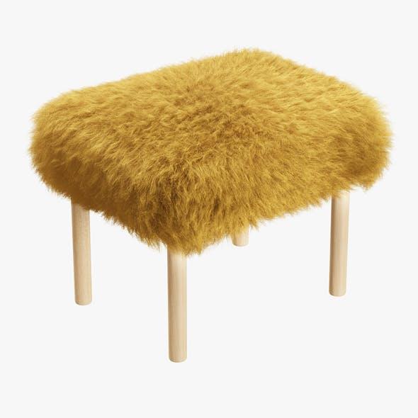 Carys Sheepskin Footstool - 3DOcean Item for Sale