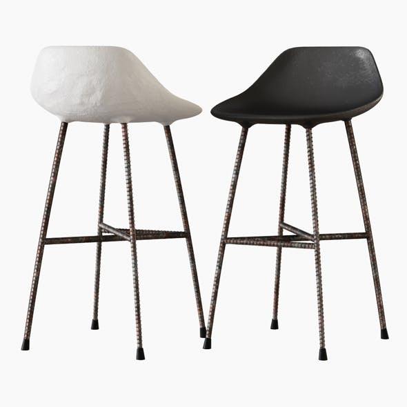 Concrete Hauteville Counter Chair - 3DOcean Item for Sale