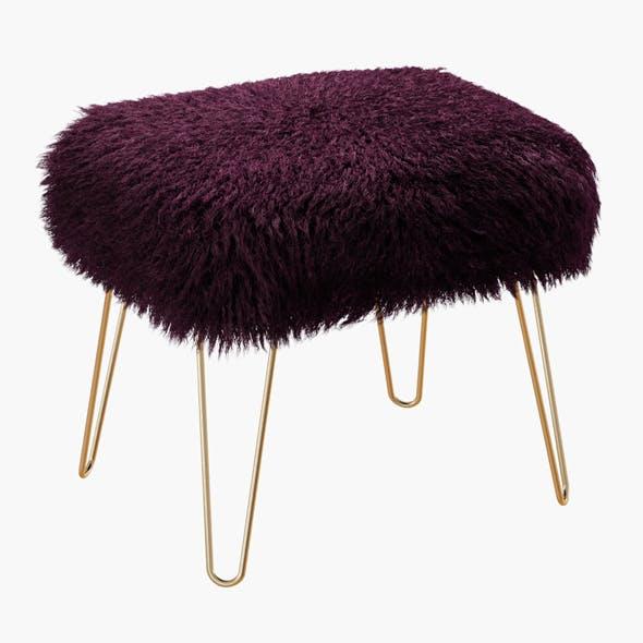 Ffion Sheepskin Footstool - 3DOcean Item for Sale