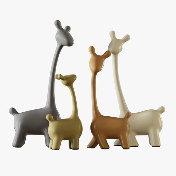 Figurines a Family of Deer - 3DOcean Item for Sale