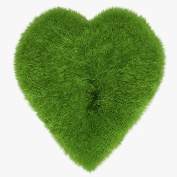 Green Heart Rug - 3DOcean Item for Sale