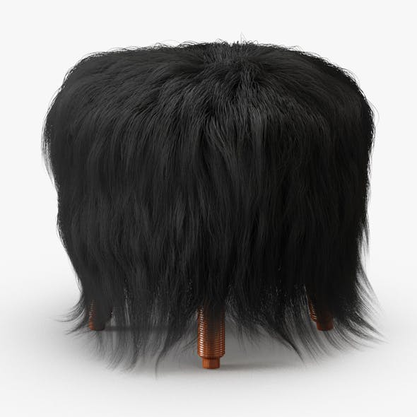 Icelandic Sheepskin Stool - 3DOcean Item for Sale