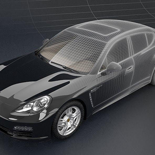 Porsche Panamera S hybrid супер автомобиль 3D-модель
