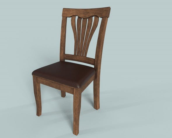 Wooden Chair PBR low-poly 3d model - 3DOcean Item for Sale