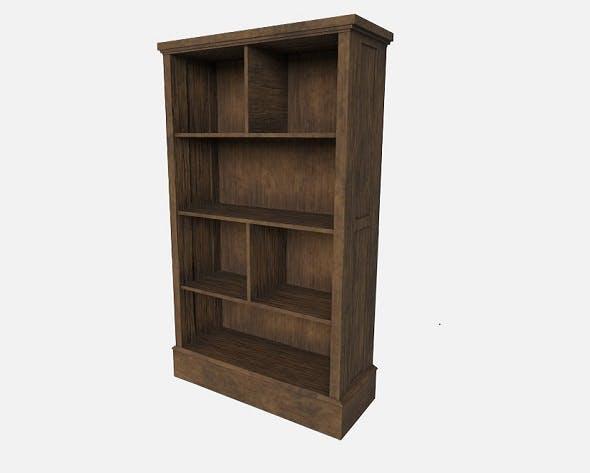 Black Walnut Wooden Shelf - 3DOcean Item for Sale