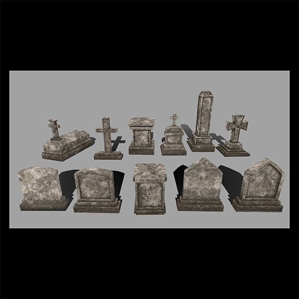 tombstone set - 3DOcean Item for Sale