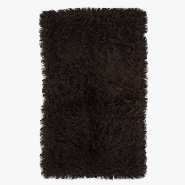 Mongolian Fur Rug Brown