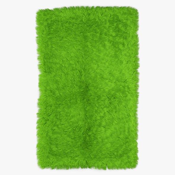 Mongolian Fur Rug Green