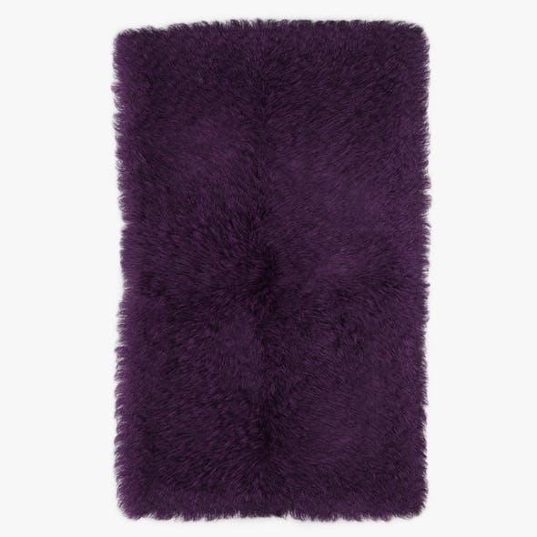 Mongolian Fur Rug Phiolet