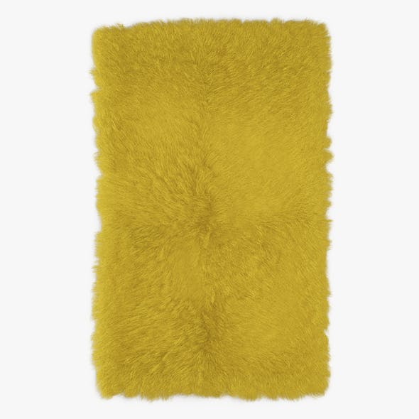 Mongolian Fur Rug Yelow - 3DOcean Item for Sale