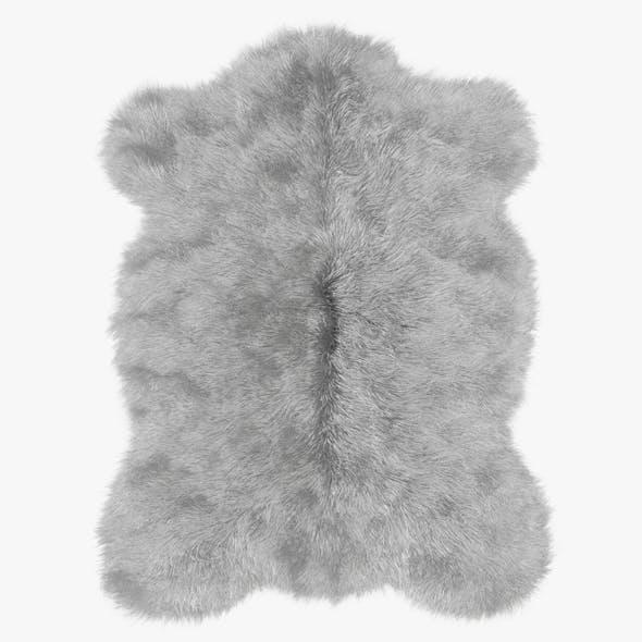 Plush Mongolian Sheepskin Rug - 3DOcean Item for Sale