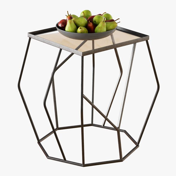Quirin Angled Side Table - 3DOcean Item for Sale