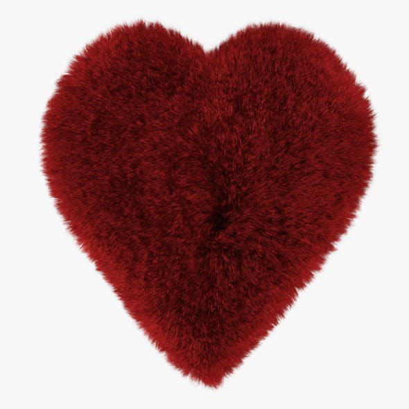 Red Heart Rug - 3DOcean Item for Sale