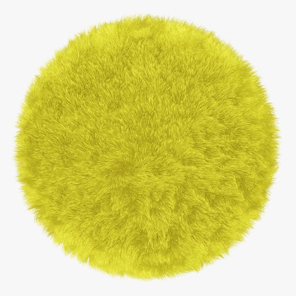 Round Yelow Rug - 3DOcean Item for Sale