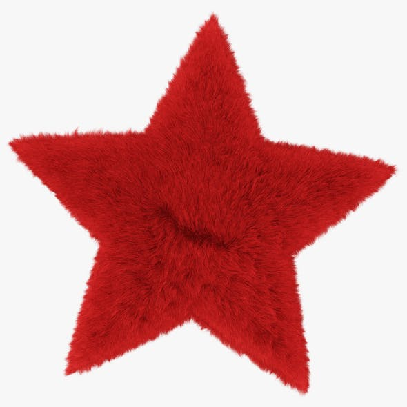 Rug Star Red - 3DOcean Item for Sale