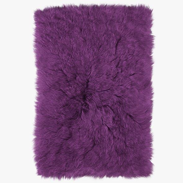 Shaggy Fur Rectangle Rug - 3DOcean Item for Sale