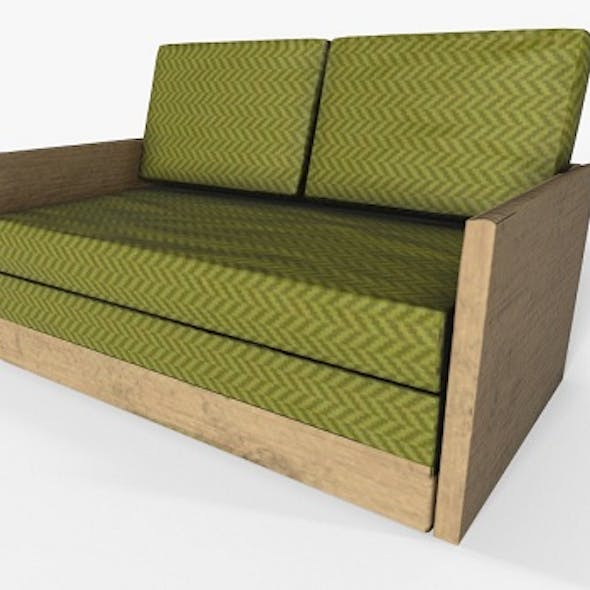 Wooden 2 Seater Couch
