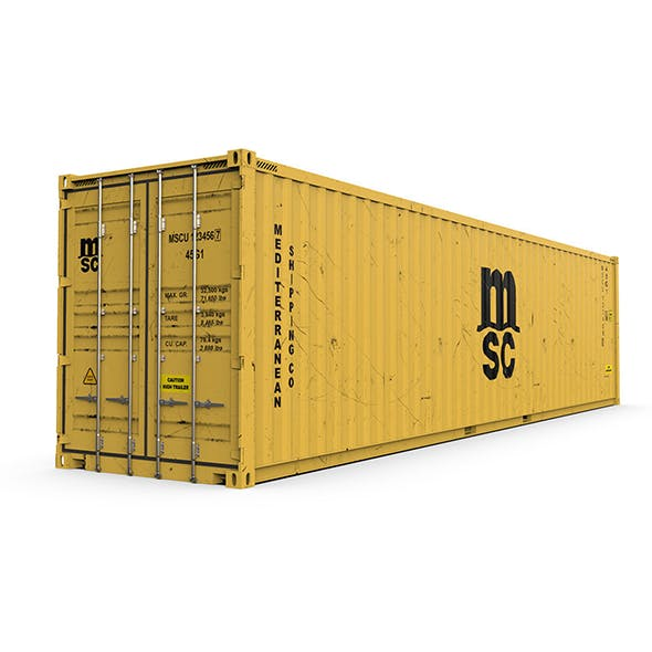 40 feet High Cube MSC shipping container - 3DOcean Item for Sale