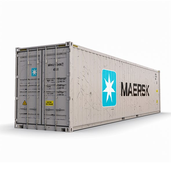 40 feet High Cube Maersk shipping container model - 3DOcean Item for Sale