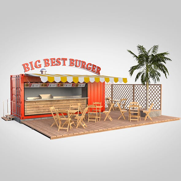 Shipping container food stand