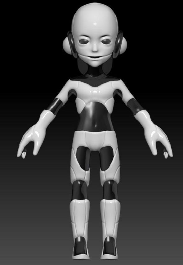 Little Robot - 3DOcean Item for Sale