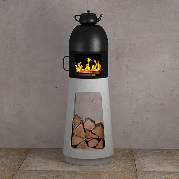 Wood Stove Design by Wuehl Yanes - 3DOcean Item for Sale