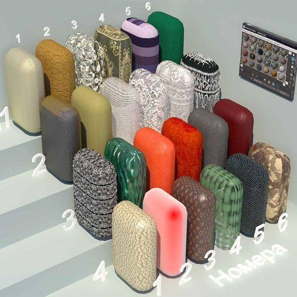 fabric materials. Set-2 (24 materials) - 3DOcean Item for Sale