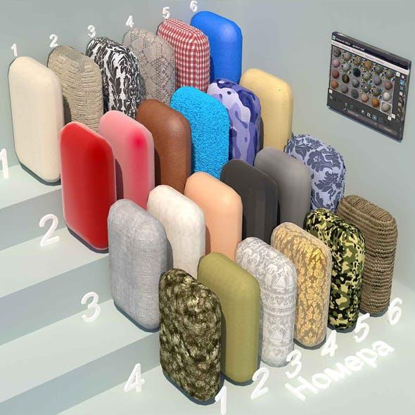 fabric materials. Set-4 (24 materials)