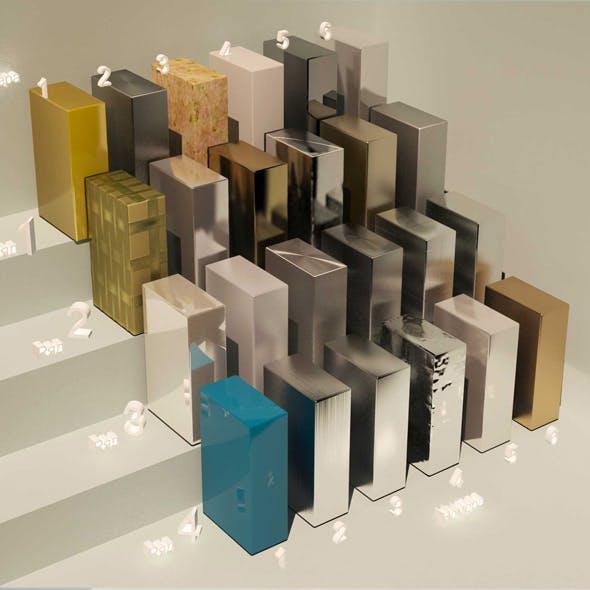 material metall_1. (24 materials) - 3DOcean Item for Sale
