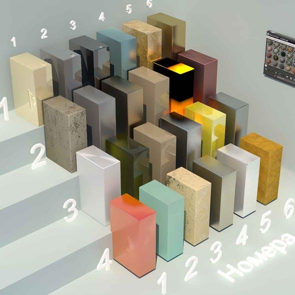 material metall_2 (24 materials) - 3DOcean Item for Sale