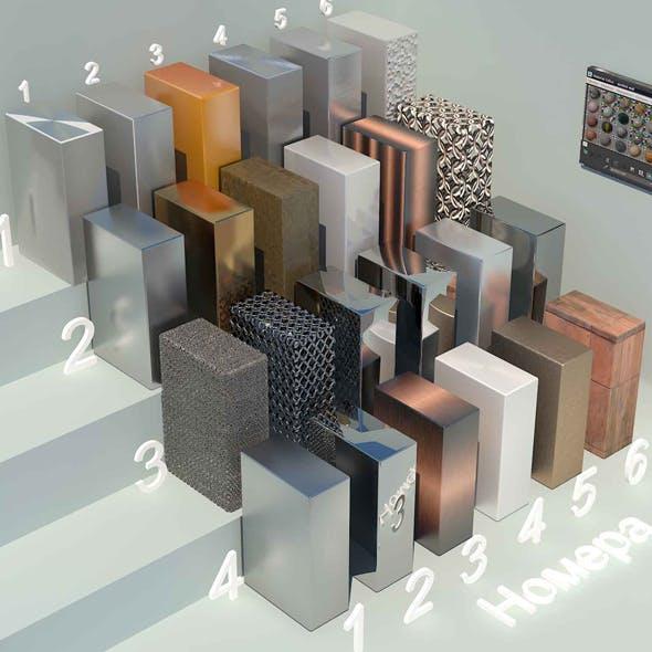 material metall_3 (24 materials) - 3DOcean Item for Sale