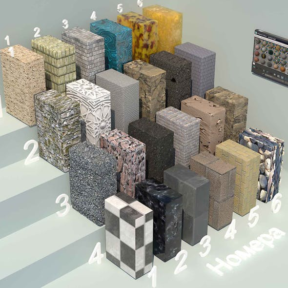 material stone - 1 (24 materials)