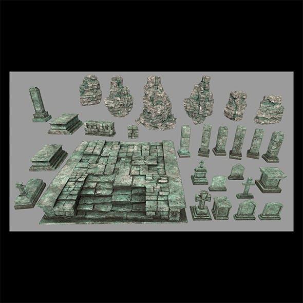 ruin set 1 - 3DOcean Item for Sale
