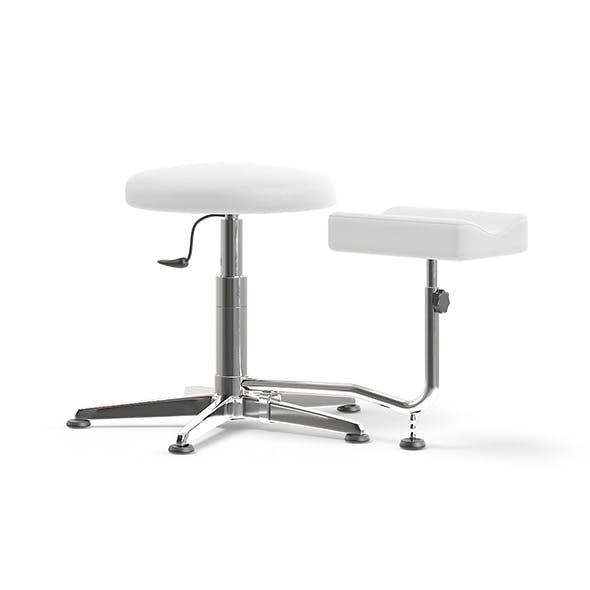 Pedicure Stool 3D Model - 3DOcean Item for Sale