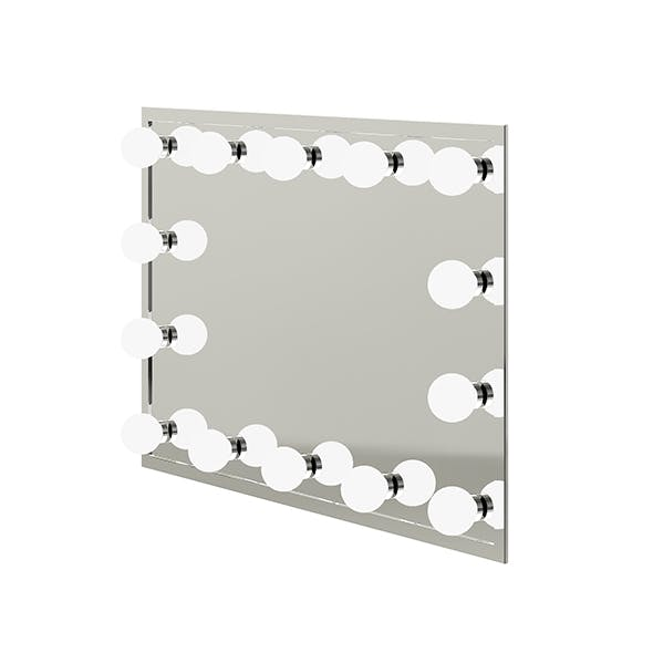 Salon Mirror with Lights 3D Model