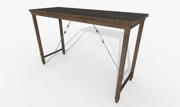 Wooden Table PBT Materials - 3DOcean Item for Sale