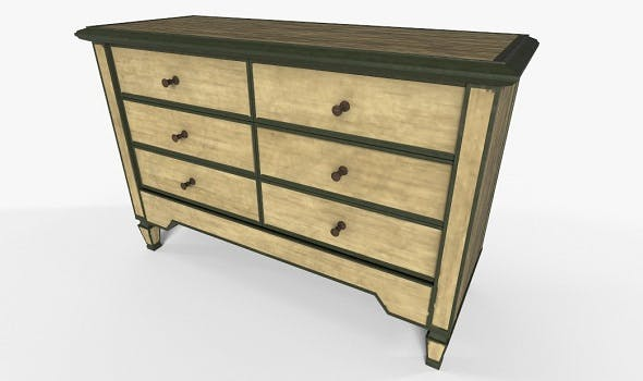 Wooden Cabinet PBR Materials - 3DOcean Item for Sale