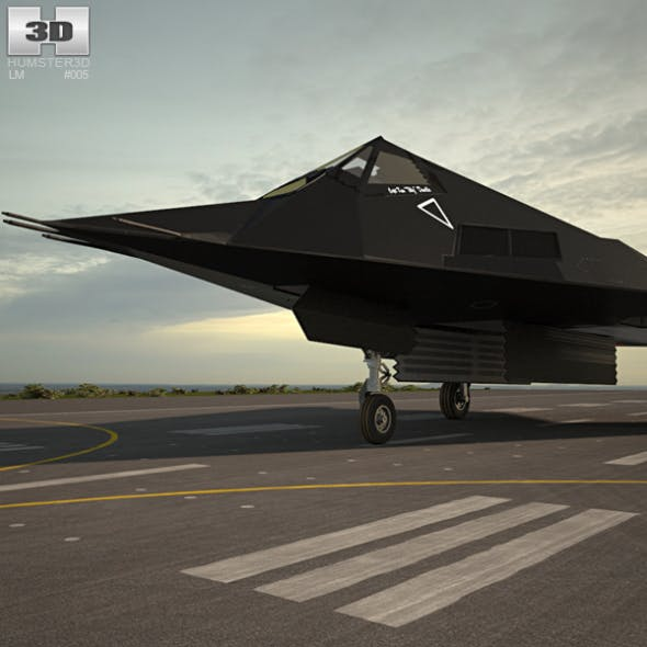 Lockheed F-117 Nighthawk - 3DOcean Item for Sale