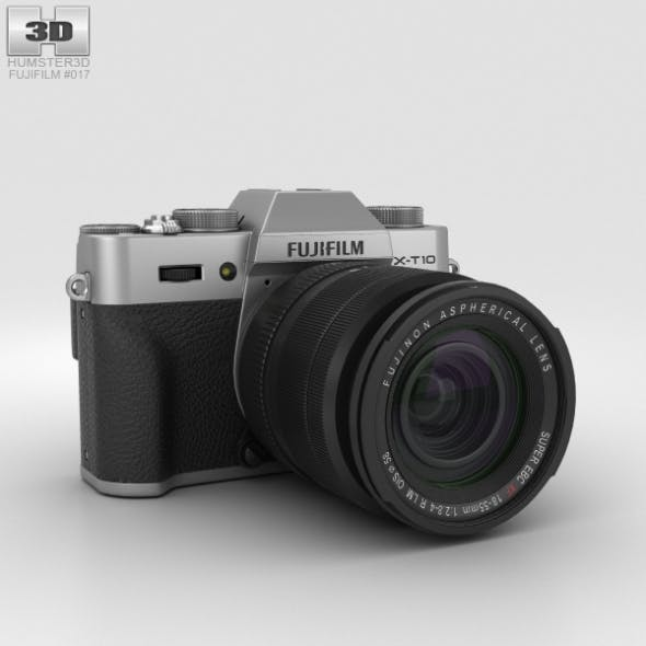 Fujifilm X-T10 Silver - 3DOcean Item for Sale