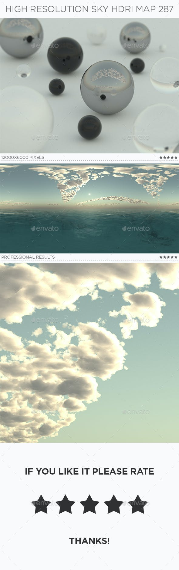 High Resolution Sky HDRi Map 287 - 3DOcean Item for Sale