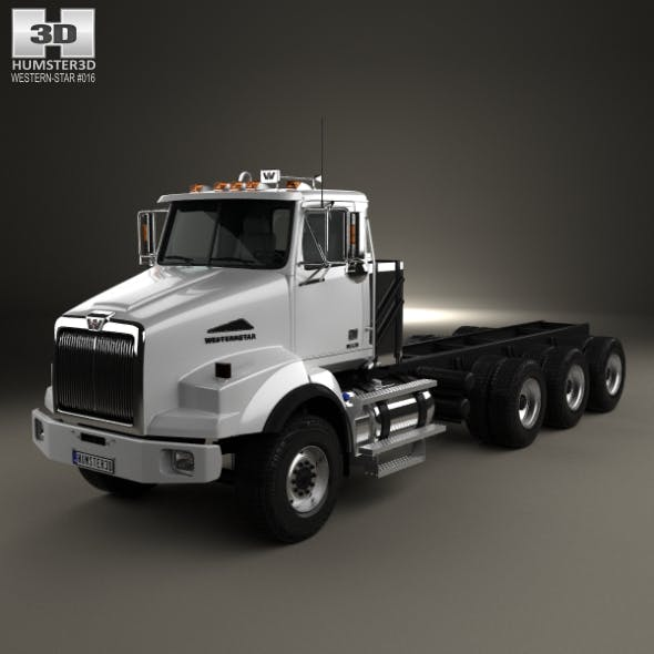 Western Star 4800 SB Day Cab Chassis Truck 2008 - 3DOcean Item for Sale